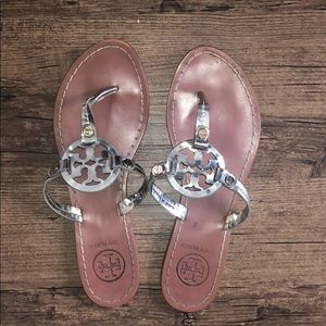 Authentic Tory Burch sandals! Silver